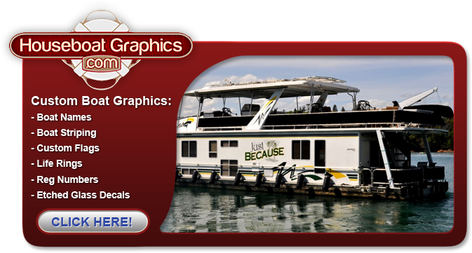 LRT Graphics Houseboat Graphics Houseboat Decals Boat Decals - Houseboat decals